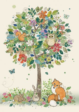 Bug Art B017 Woodland Tree greetings card