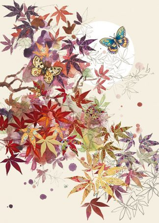 Bug Art B021 Red Acer greetings card