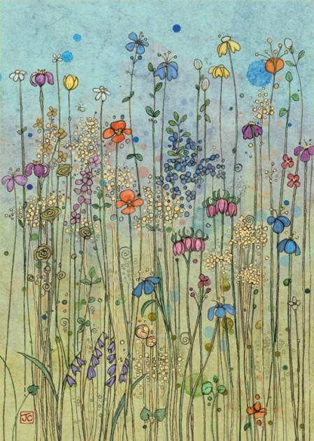 Bug Art D078 Meadow greetings card