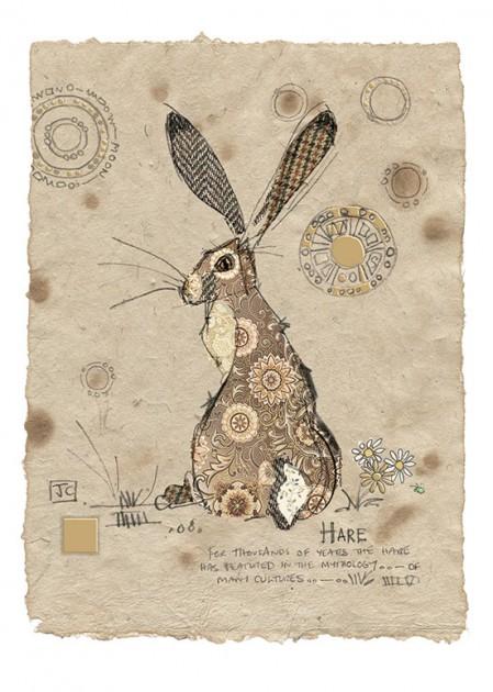 Bug Art D164 Brown Hare greetings card