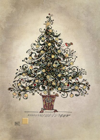Bug Art dc017 Black Chintz tree greetings card