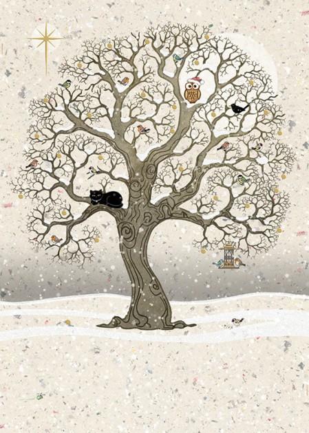 Bug Art dc019 Christmas Oak greetings card