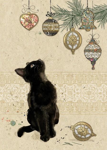 Bug Art dc022 Kitten Decorations greetings card