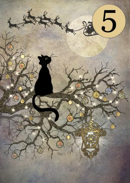Bug Art dcc016 Moon Cat greetings card