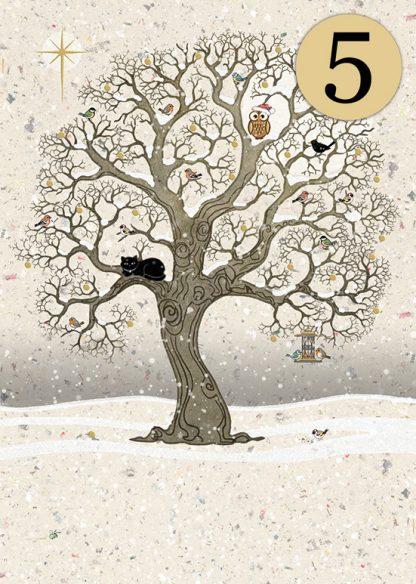 Bug Art dcc019 Christmas Oak greetings card
