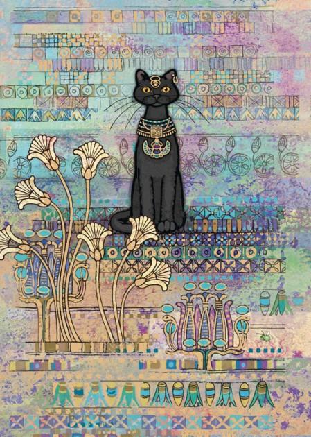 Bug Art E009 Egyptian Cat greetings card