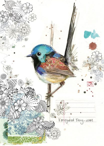 Bug Art F033 Fairy-wren greetings card