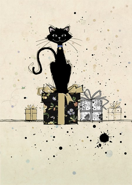 Bug Art H001 Cat on Gifts greetings card