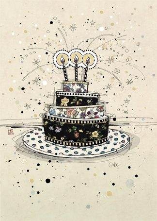 Bug Art H002 Birthday Cake greetings card