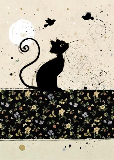 Bug Art H008 Chintz Cat greetings card
