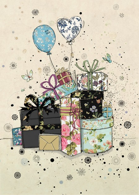 Bug Art H009 Gifts and Balloons greetings card