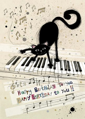 Bug Art H014 Cat Keyboard greetings card