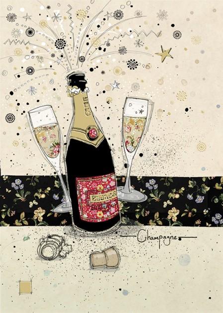 Bug Art H015 Champagne greetings card