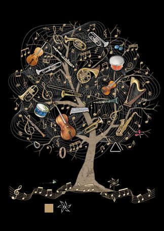 Bug Art m138 Music Tree greetings card