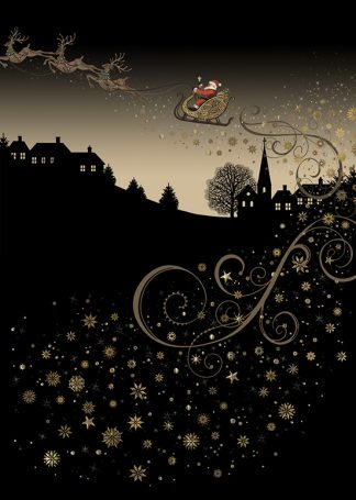 Bug Art MC037 Rooftop Sleigh greetings card