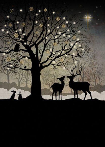 Bug Art MC039 Christmas Woodland greetings card