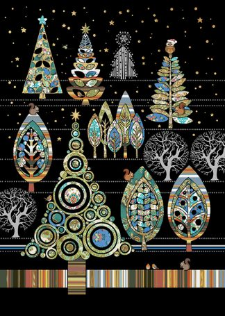 Bug Art MC044 Christmas Forest greetings card