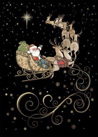 Bug Art MC045 Santa's Team greetings card