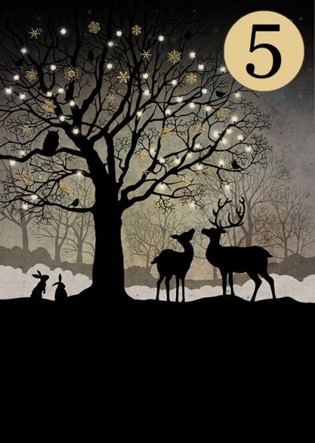 Bug Art MCC039 Christmas Woodland greeting card