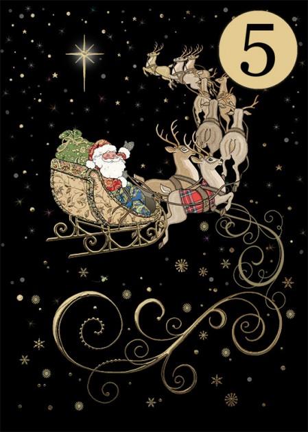 Bug Art MCC045 Santa's Team greeting card